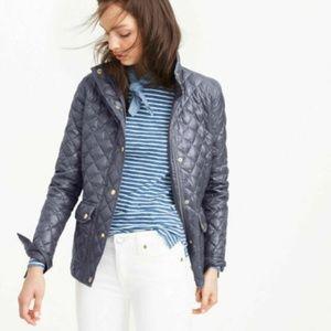 J. CREW Shiny Downtown Field Puffer Jacket